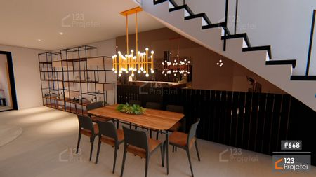 Projeto 668 - Sala de Jantar: undefined